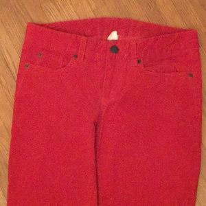 JCrew orange corduroy straight leg pants 28